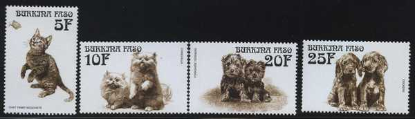 Burkina Faso cat stamps 1
