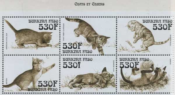 Burkina Faso cat stamps 2