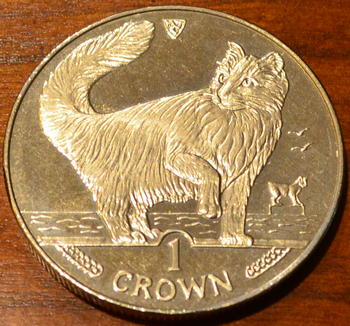 Isle of Man Norwegian Forest Cat coin